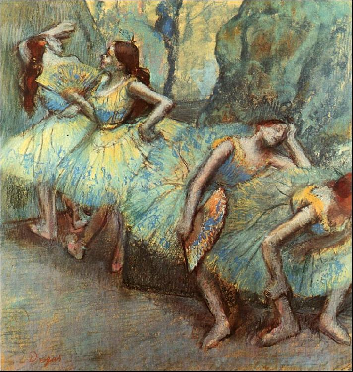 Edgar Degas Ballet Dancers in the Wings oil painting image