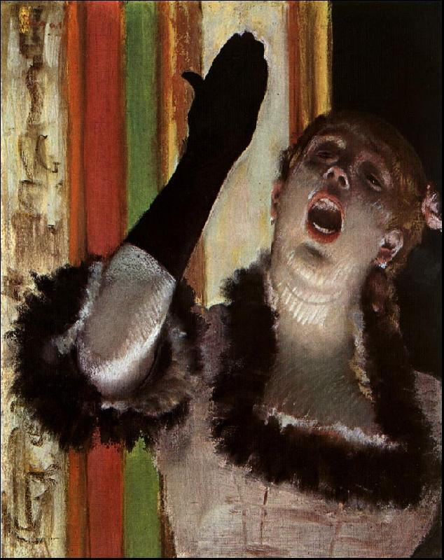 Edgar Degas Singer With a Glove oil painting image