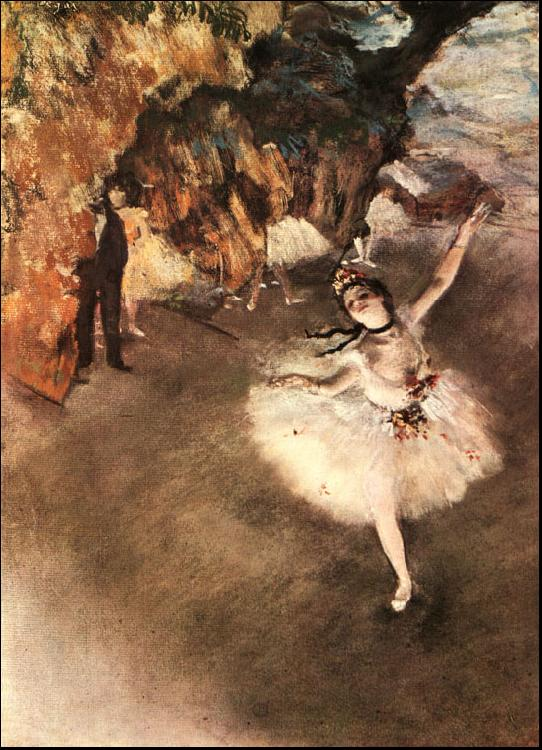 Edgar Degas The Star Dancer on Stage oil painting image