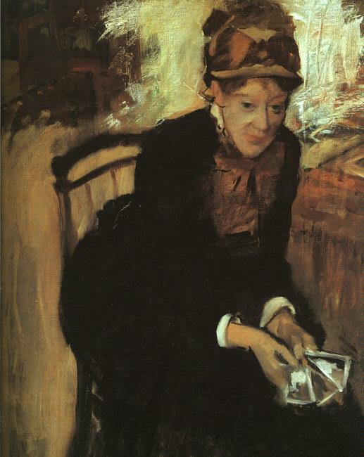 Edgar Degas Portrait of Mary Cassatt oil painting image