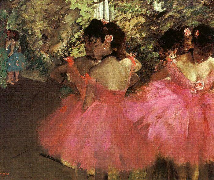 Edgar Degas Dancers in Pink_f oil painting image