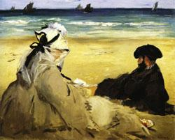 Edouard Manet At the Beach oil painting image