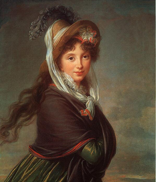 Elisabeth LouiseVigee Lebrun Portrait of a Young Woman-p oil painting image