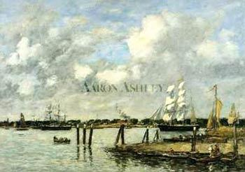 Eugene Boudin Lameuse a Rotterdam oil painting image