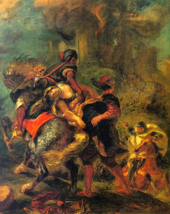 Eugene Delacroix The Abduction of Rebecca oil painting image