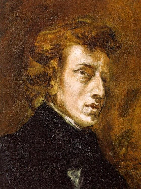 Eugene Delacroix Portrait of Frederic Chopin oil painting image