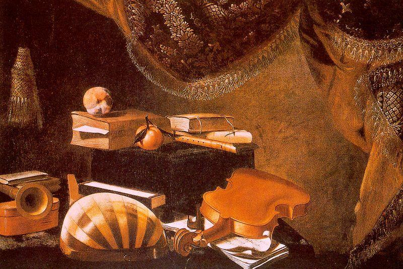 Evaristo Baschenis Still Life with Musical Instruments_a oil painting image