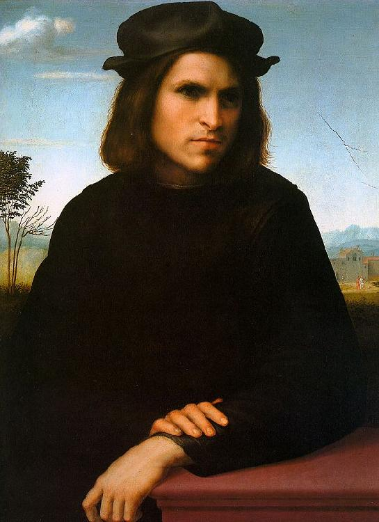 FRANCIABIGIO Portrait of a Man dsh oil painting image