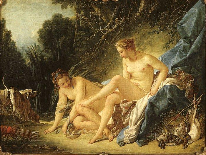 Francois Boucher Diana Leaving her Bath oil painting image