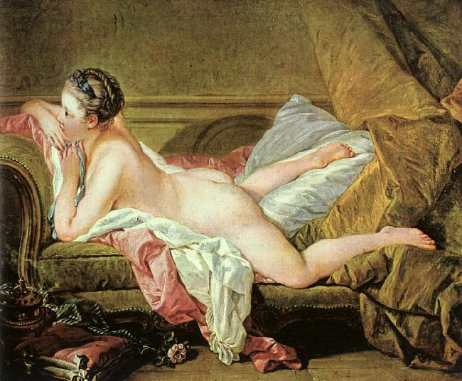 Francois Boucher Nude on a Sofa oil painting image