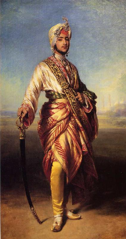 Franz Xaver Winterhalter The Maharajah Duleep Singh oil painting image