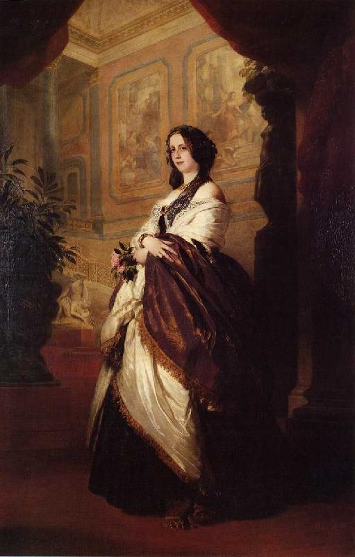 Franz Xaver Winterhalter , Harriet Howard, Duchess of Sutherland oil painting image