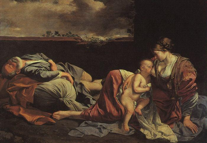 GENTILESCHI, Orazio Rest on the Flight into Egypt sdg oil painting image