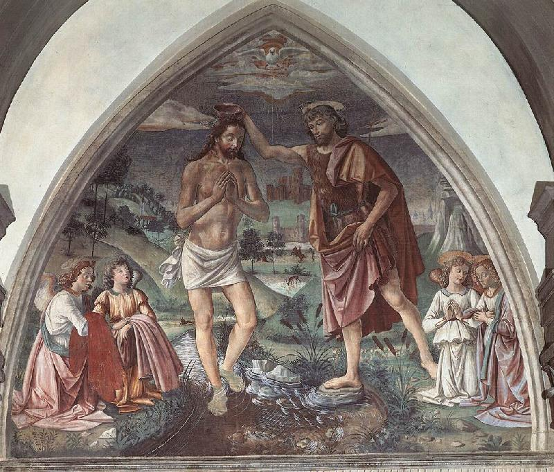 GHIRLANDAIO, Domenico Baptism of Christ dfg oil painting image