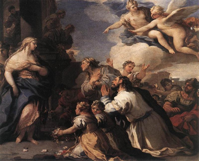 GIORDANO, Luca Psyche Honoured by the People fj oil painting image
