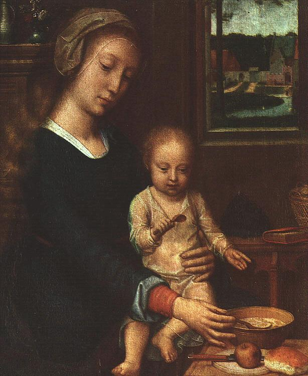 Gerard David The Madonna of the Milk Soup oil painting image