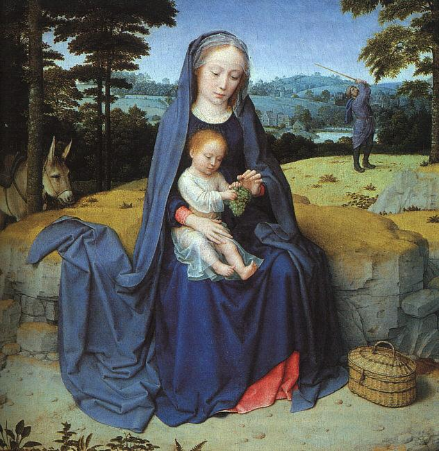 Gerard David The Rest on the Flight into Egypt oil painting image
