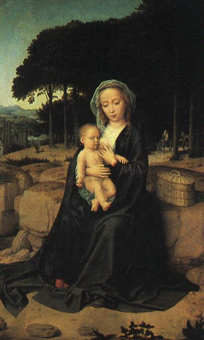 Gerard David The Rest on the Flight to Egypt_1 oil painting image