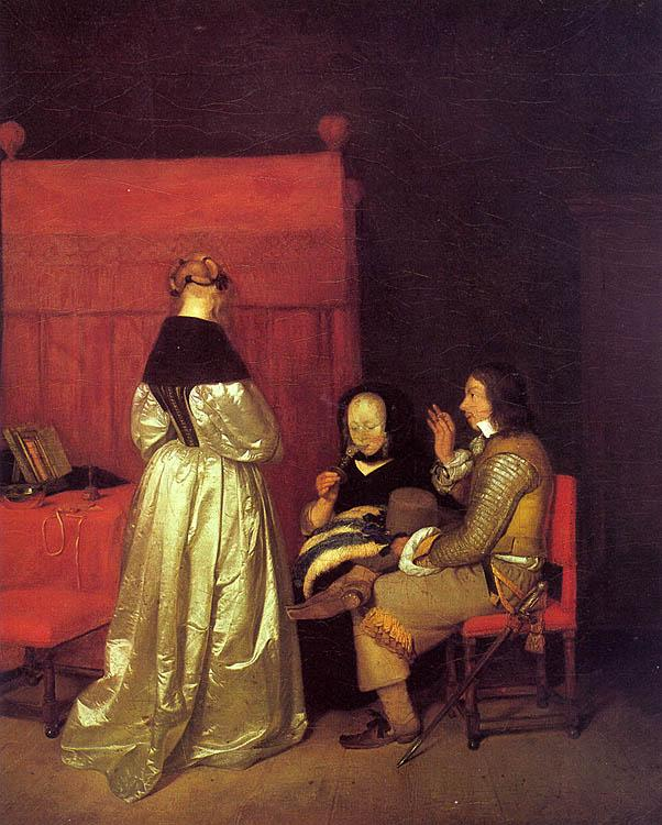 Gerard Ter Borch Paternal Advice oil painting image