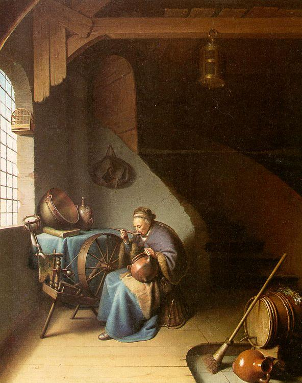 Gerrit Dou Woman Eating Porridge oil painting image
