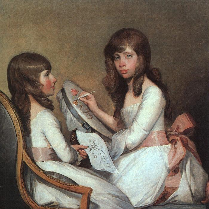 Gilbert Charles Stuart Miss Dick and her cousin Miss Forster oil painting image