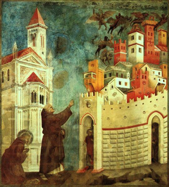 Giotto The Devils Cast Out of Arezzo oil painting image