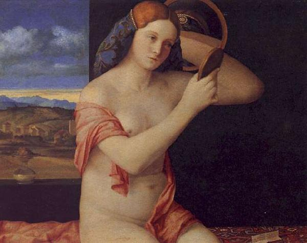 Giovanni Bellini Young Woman at her Toilet oil painting image