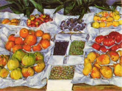 Gustave Caillebotte Fruit Displayed on a Stand oil painting image