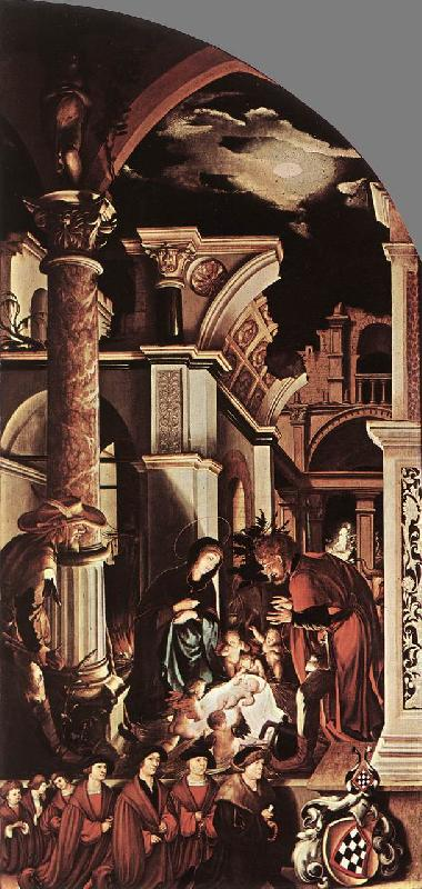 HOLBEIN, Hans the Younger The Oberried Altarpiece (right wing) sf oil painting image