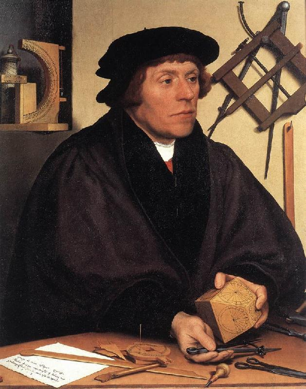 HOLBEIN, Hans the Younger Portrait of Nikolaus Kratzer gw oil painting image
