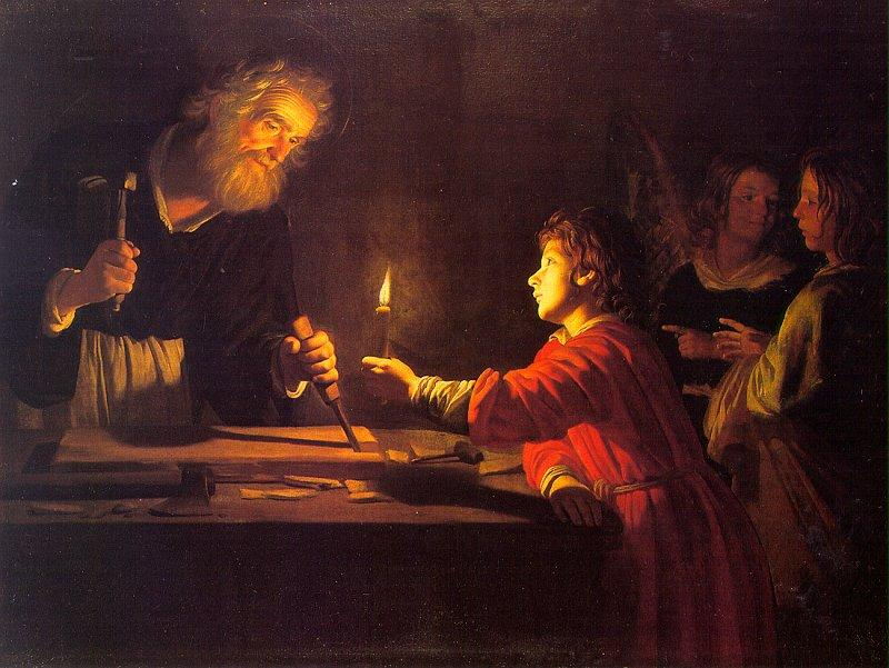 HONTHORST, Gerrit van Childhood of Christ sf oil painting image