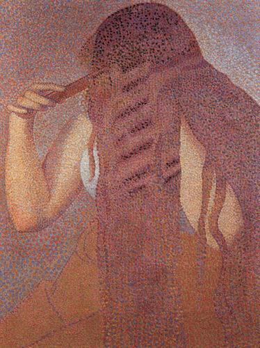 Henri Edmond Cross Woman Combing her Hair oil painting image