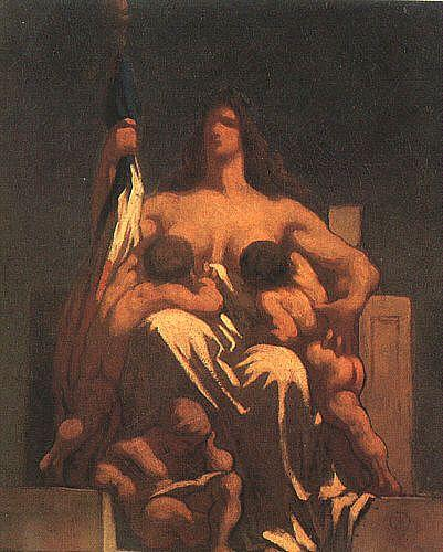 Honore  Daumier The Republic oil painting image