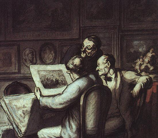 Honore  Daumier The Print Collectors oil painting image