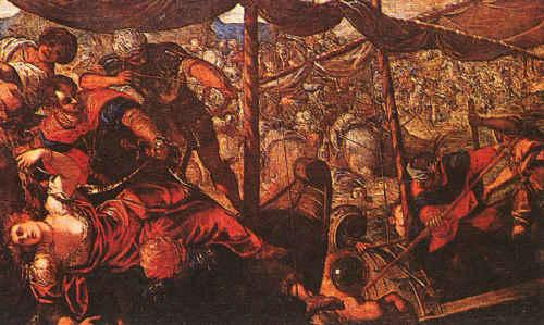 Jacopo Robusti Tintoretto Battle oil painting image