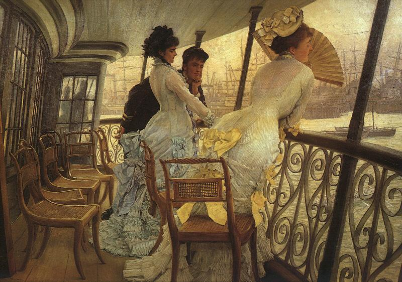 James Tissot The Gallery of HMS Calcutta oil painting image