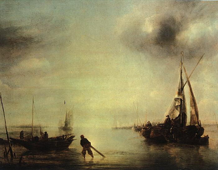 Jan van de Cappelle Becalmed oil painting image