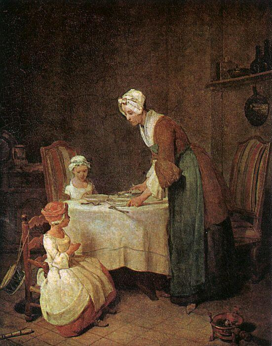 Jean Baptiste Simeon Chardin Grace before a Meal oil painting image