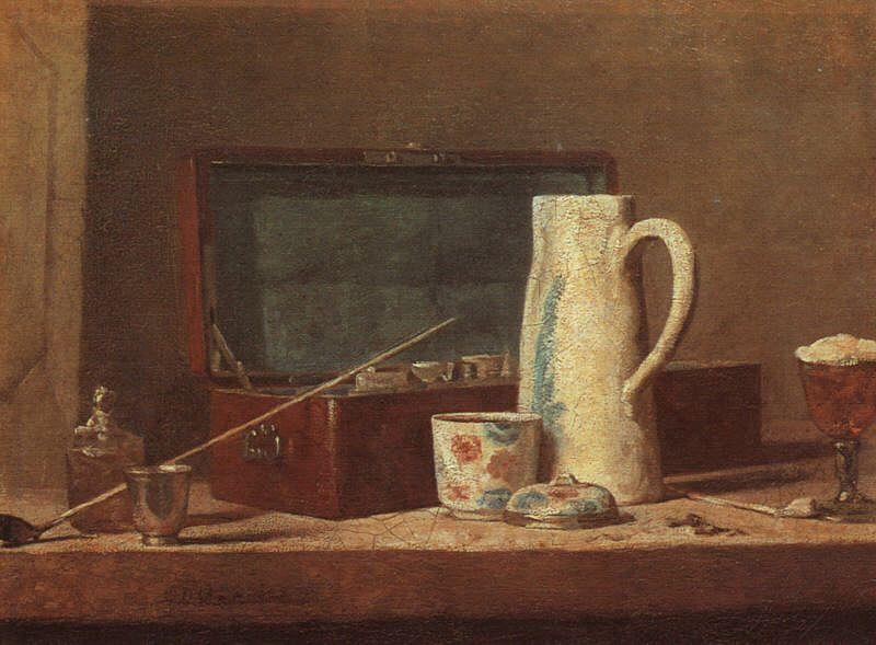 Jean Baptiste Simeon Chardin Pipes and Drinking Pitcher oil painting image