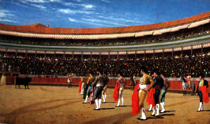 Jean Leon Gerome Plaza de Toros  : The Entry of the Bull oil painting image