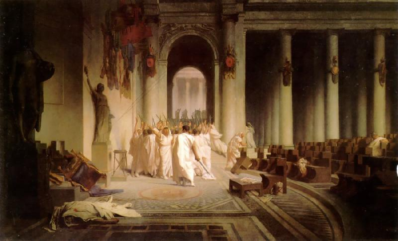 Jean Leon Gerome The Death of Caesar oil painting image