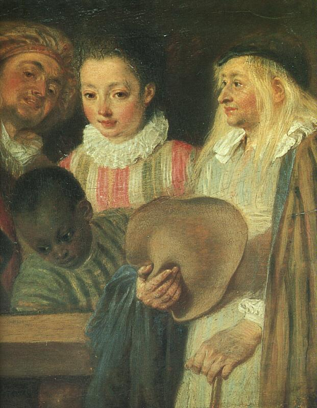 Jean-Antoine Watteau Actors from a French Theatre (Detail) oil painting image
