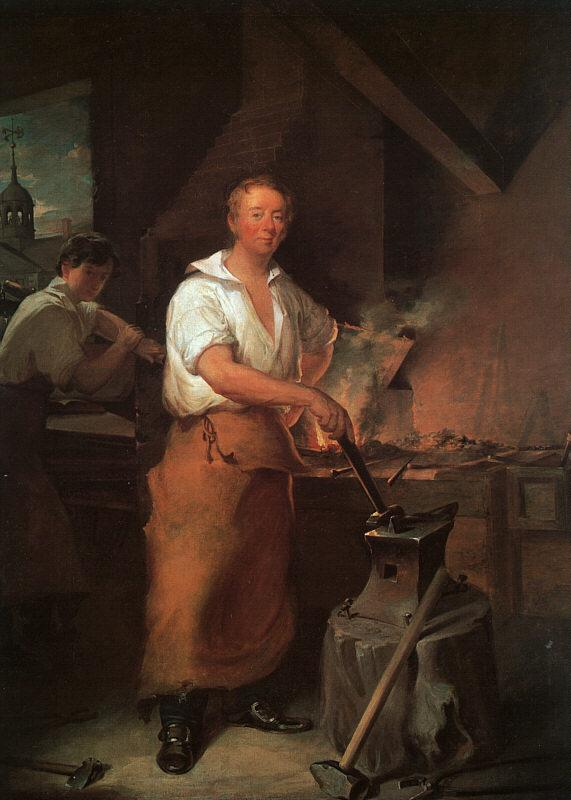 John Neagle Pat Lyon at the Forge oil painting image