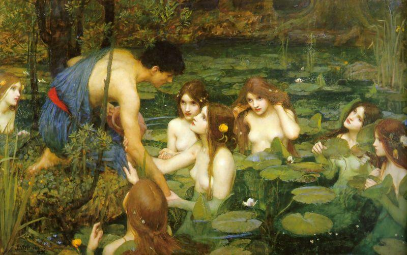 John William Waterhouse Hylas and the Nymphs oil painting image