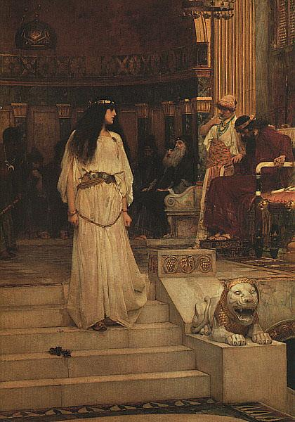 John William Waterhouse Marianne Leaving the Judgment Seat of Herod oil painting image