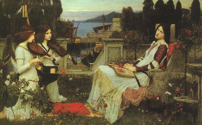 John William Waterhouse St.Cecilia oil painting image