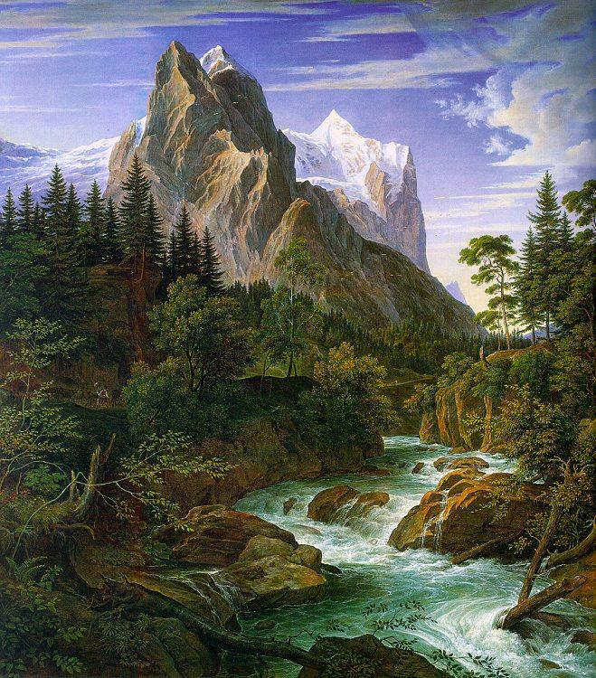 Joseph Anton Koch The Wetterhorn with the Reichenbachtal oil painting image