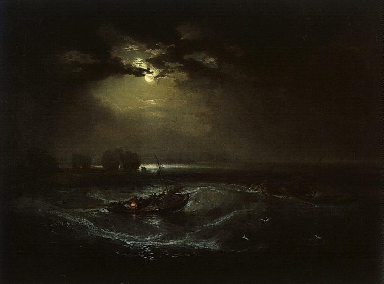 Joseph Mallord William Turner Fishermen at Sea  (The Cholmeley Sea Piece) oil painting image