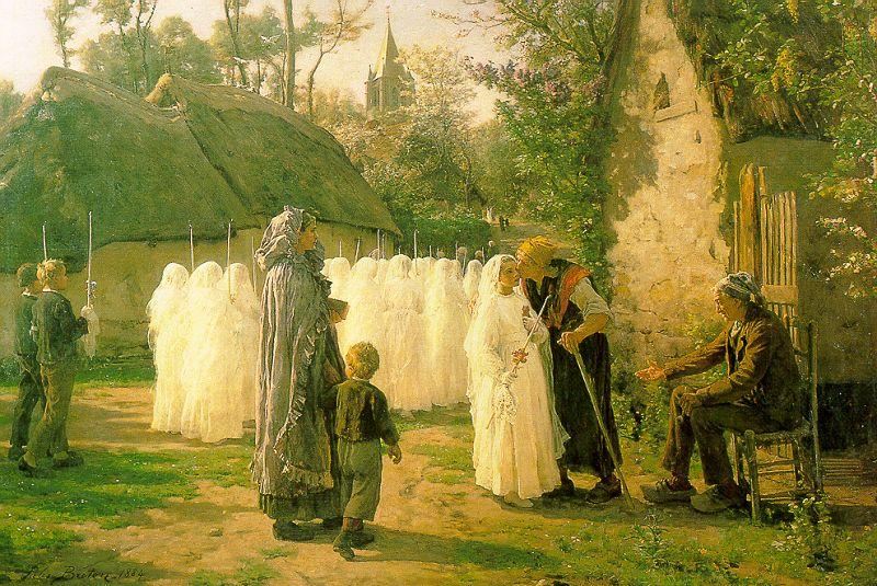 Jules Breton The Communicants oil painting image