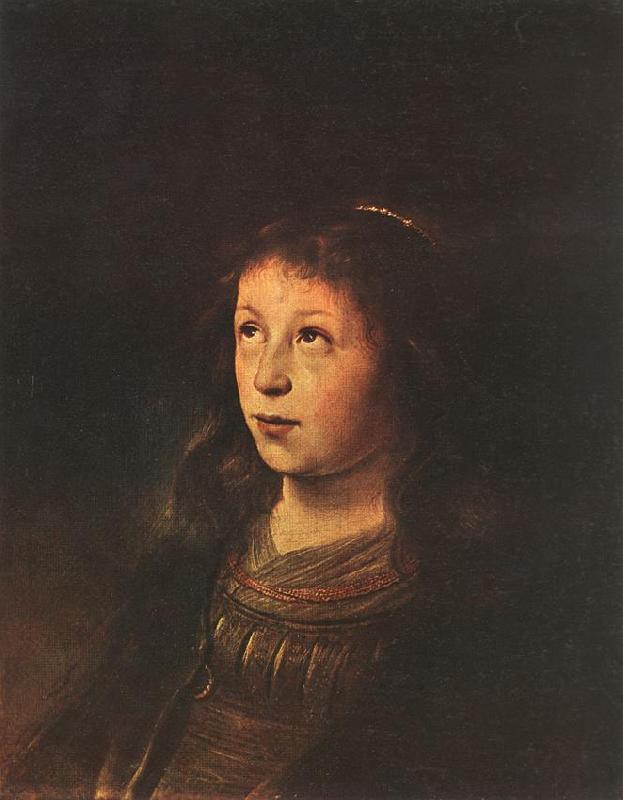 LIEVENS, Jan Portrait of a Girl dh oil painting image